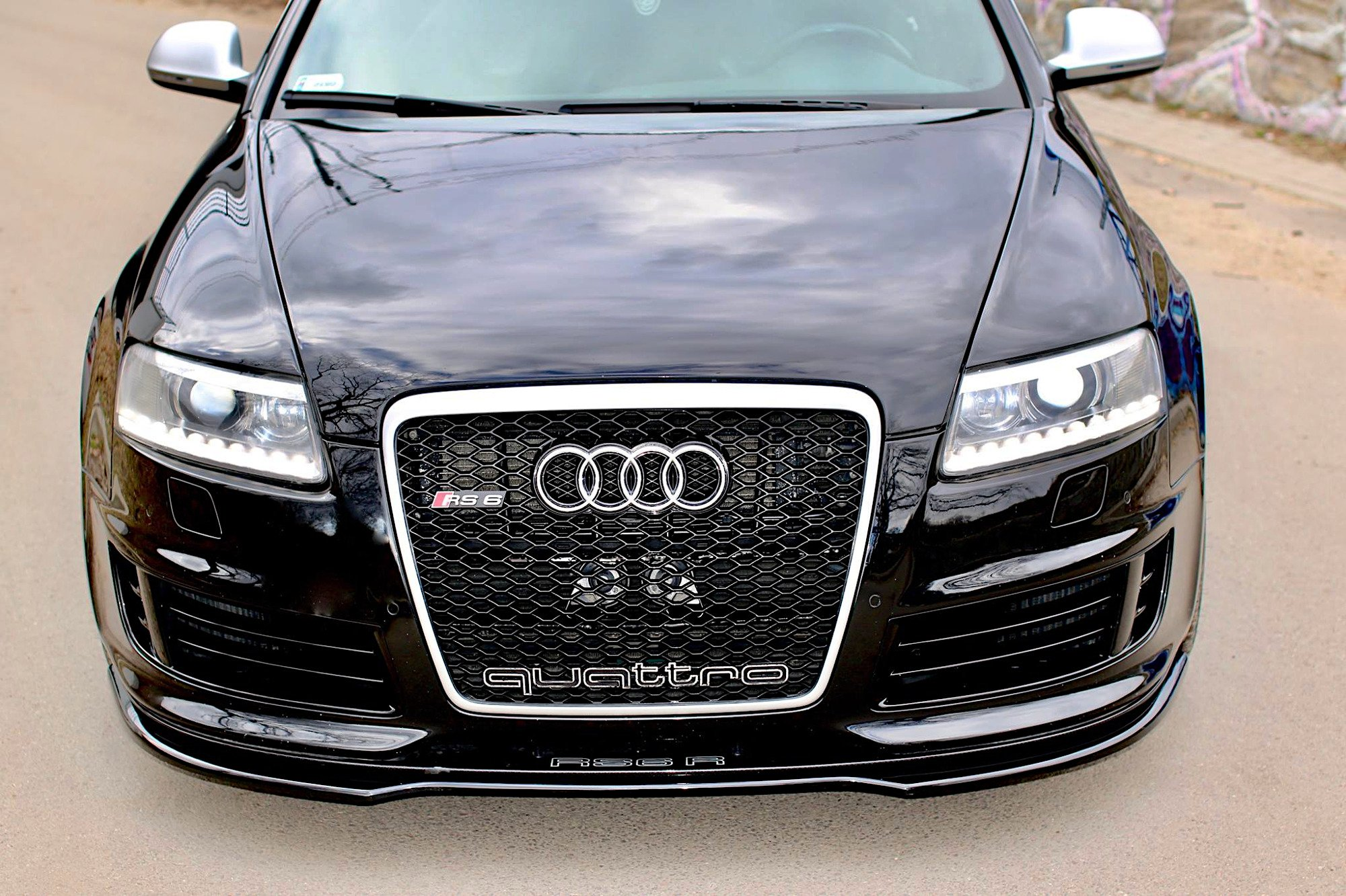 FRONT SPLITTER AUDI RS6 C6 Textured   Our Offer  Audi ...