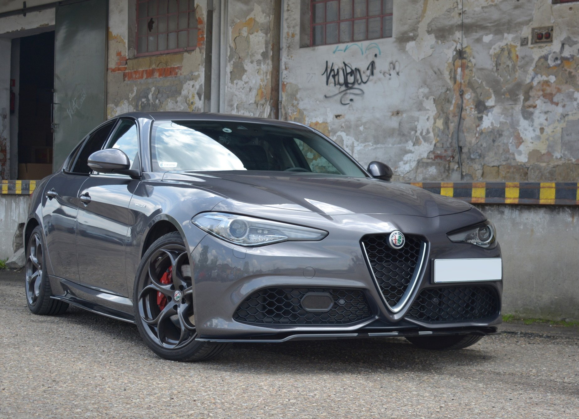 FRONT SPLITTER V.1 ALFA ROMEO GIULIA VELOCE | Our Offer