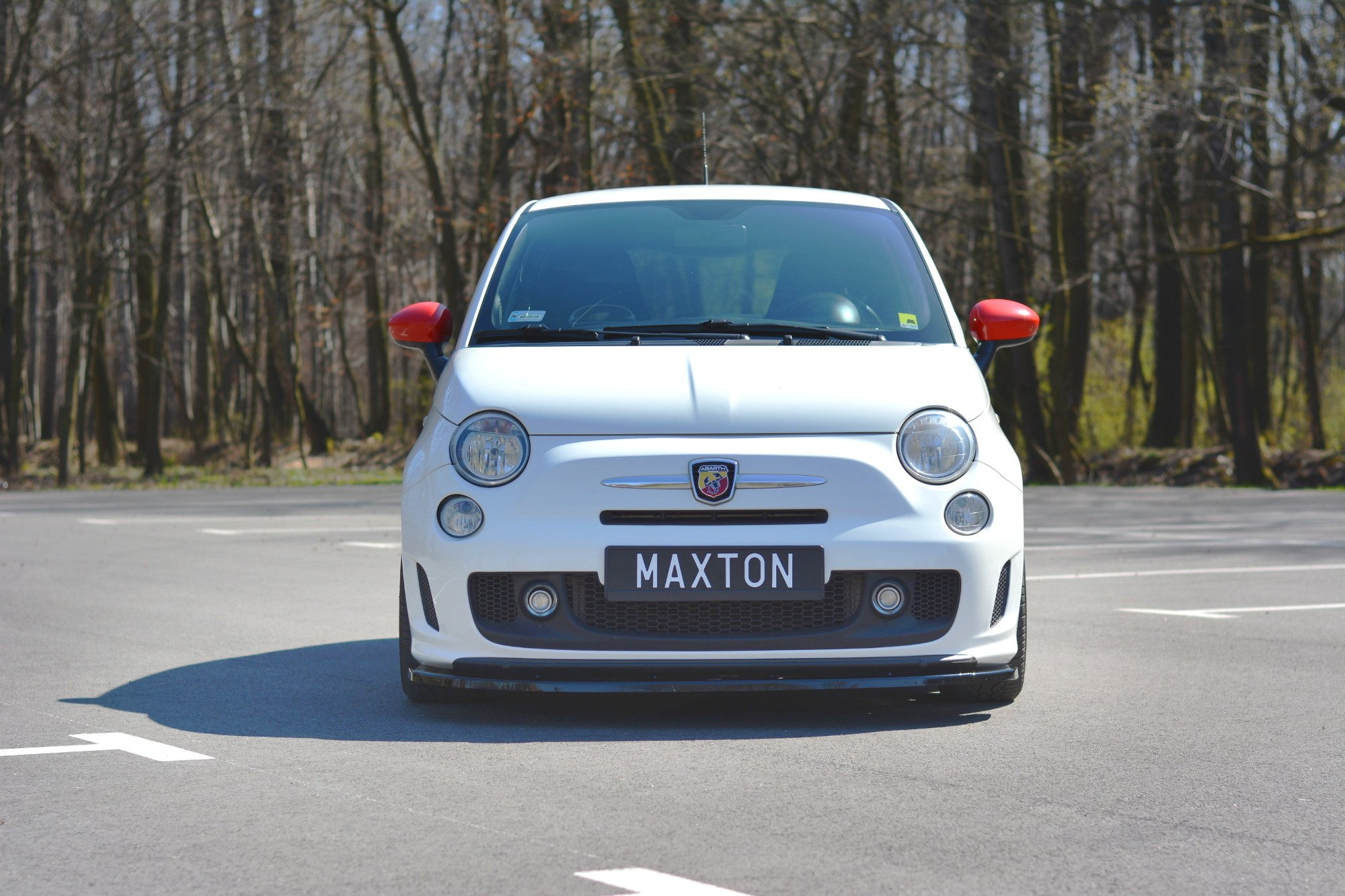 Front Splitter V 2 Fiat 500 Abarth Mk1 Textured Our Offer Fiat 500 Abarth Mk1 Maxton Design