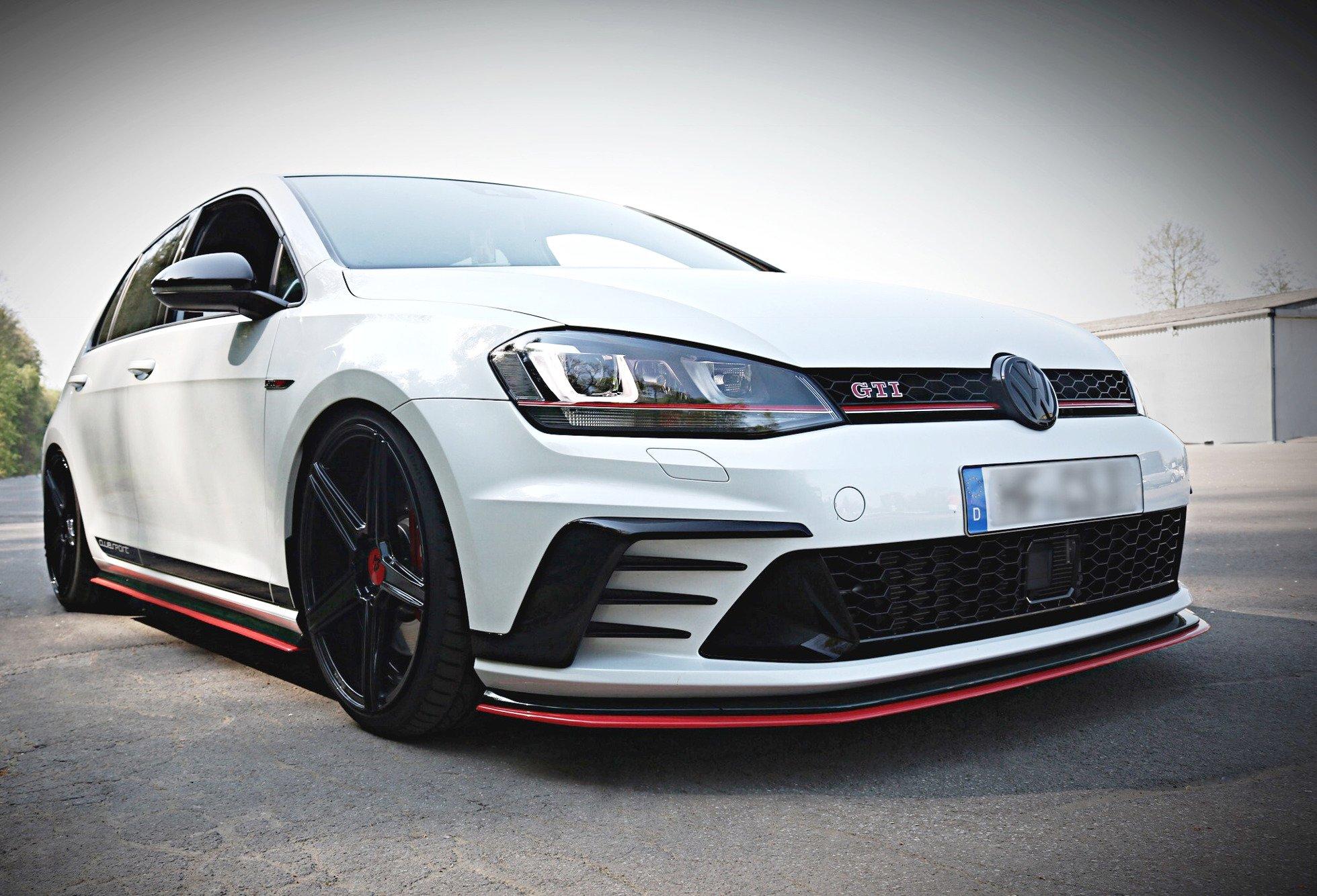 Front Splitter Vw Golf Mk7 Gti Clubsport Textured Our Offer Volkswagen Golf Gti Mk7 Maxton Design