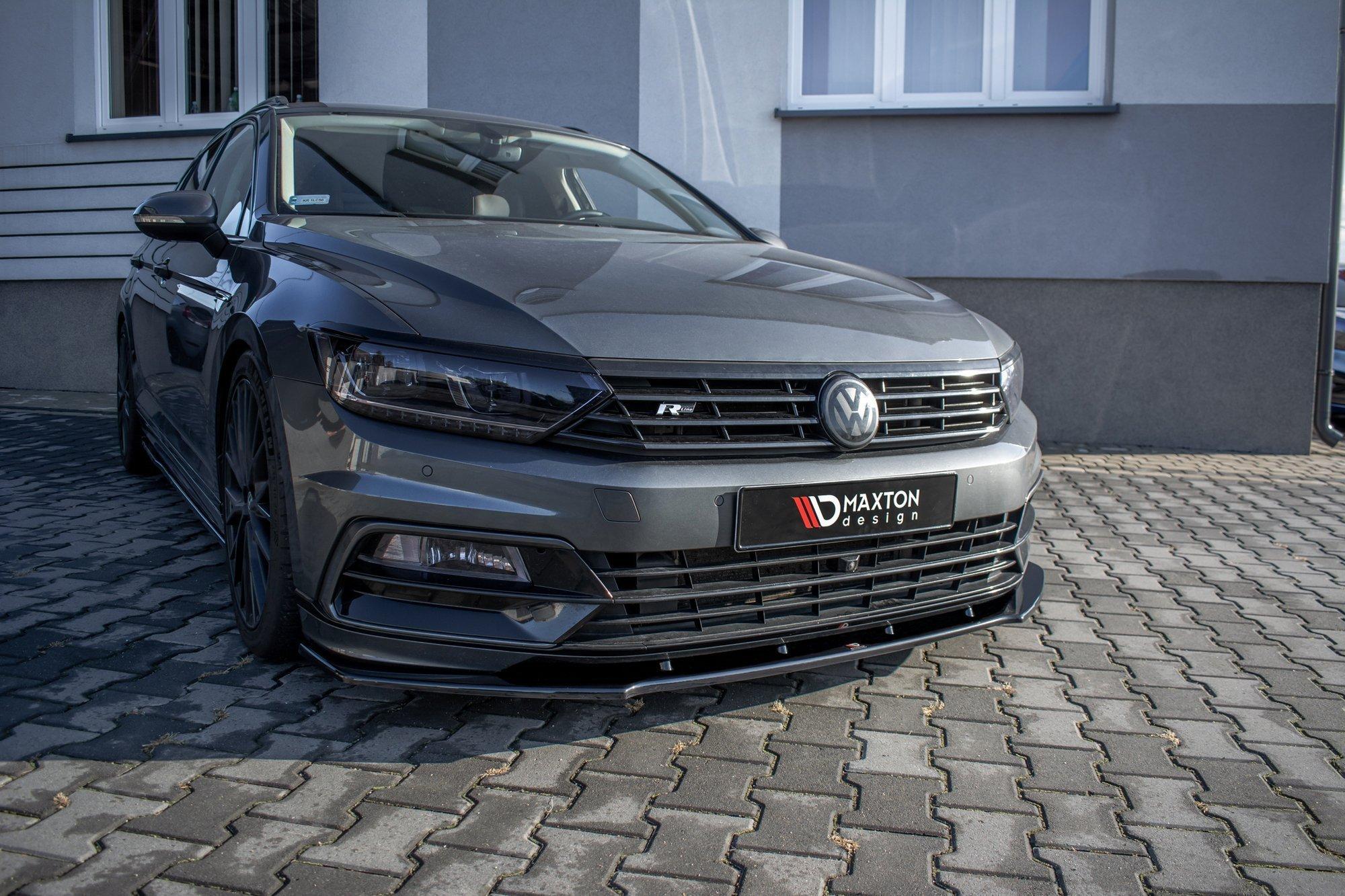 Front Splitter V 1 Volkswagen Passat R Line B8 Our Offer Volkswagen Passat Mk8 B8 Maxton Design