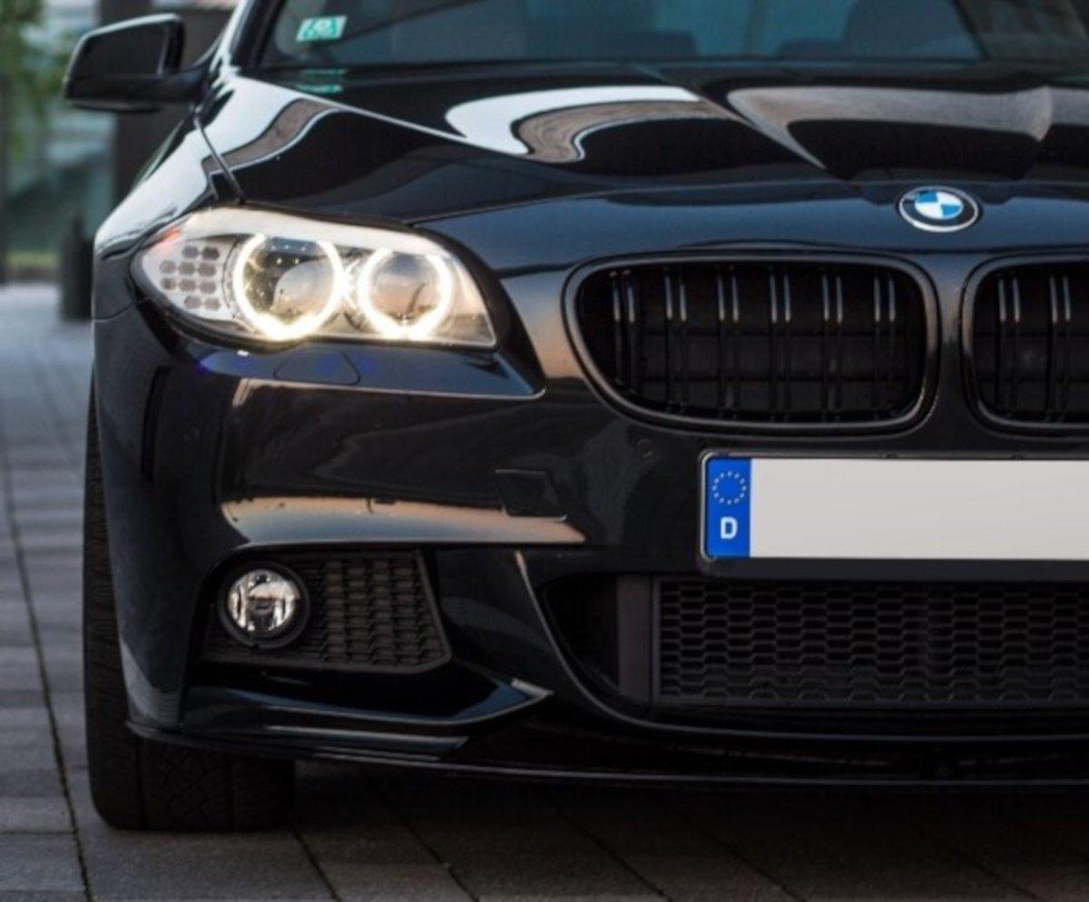 For Bmw F10 F11 Front Bumper Spoiler M Performance Look Black Mat M Sport Lip