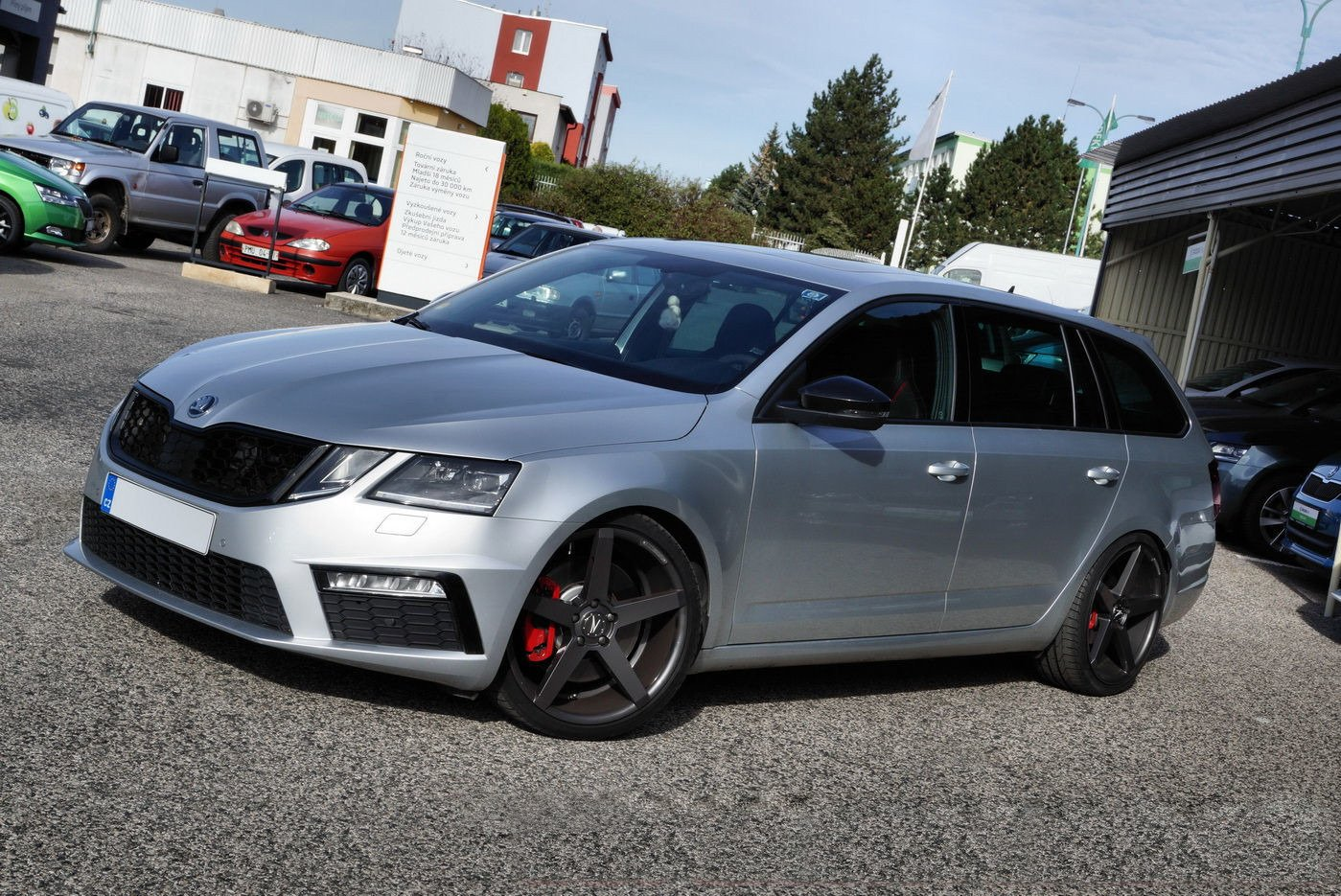 Grill Skoda Octavia Iii Rs Facelift Our Offer Skoda Octavia Rs Mk3 Fl 2016 2019 Maxton Design