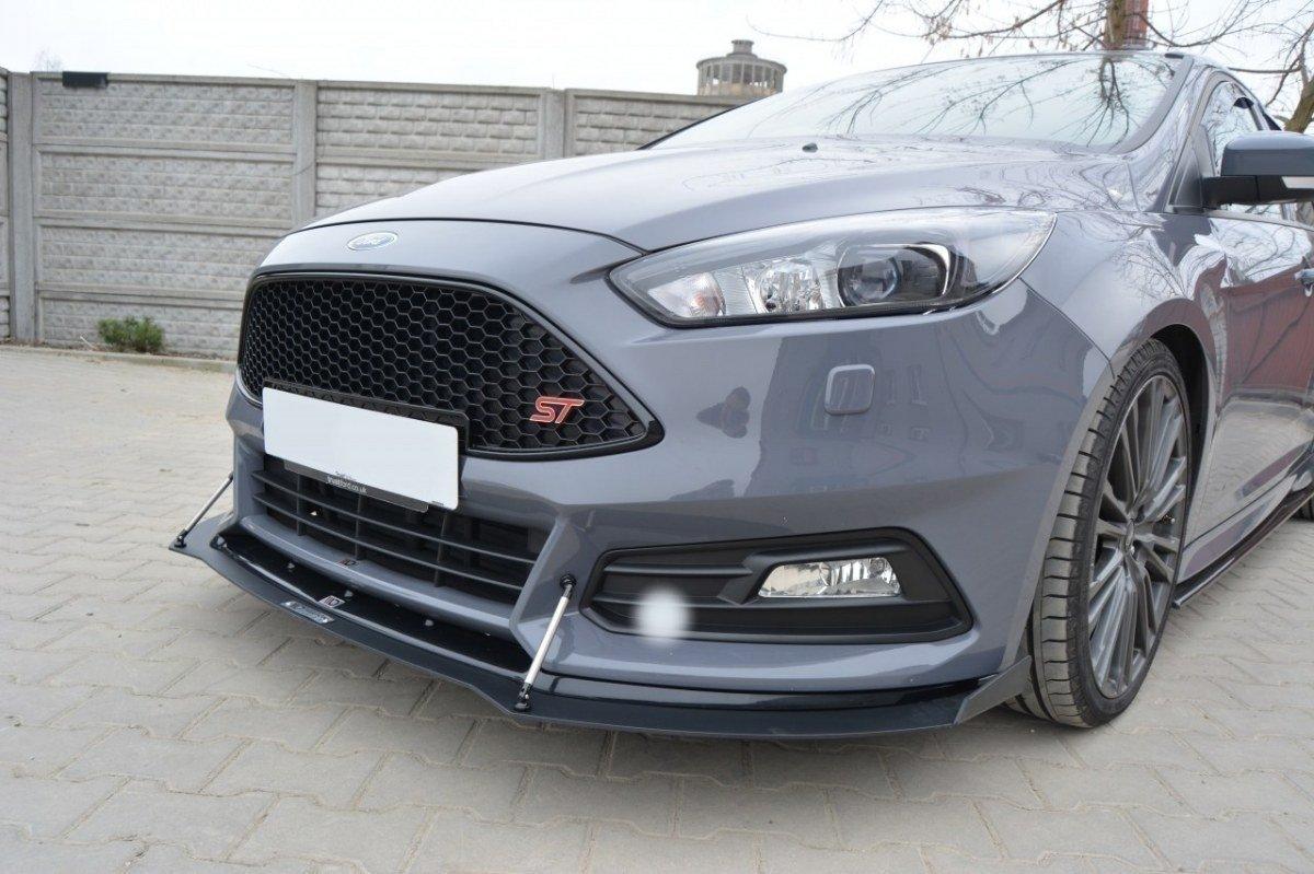 Hybrid Front Splitter V 2 Ford Focus St Mk3 Fl Our Offer Ford Focus St Mk3 Fl 2015 2018 Maxton Design