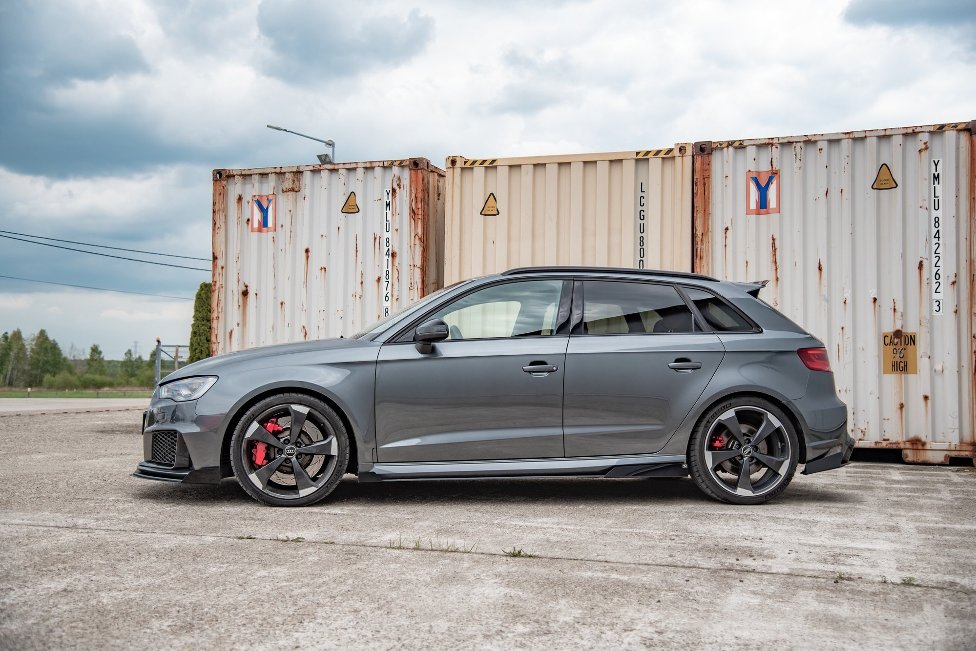Racing Durability Side Skirts Diffusers + Flaps Audi RS3 ...
