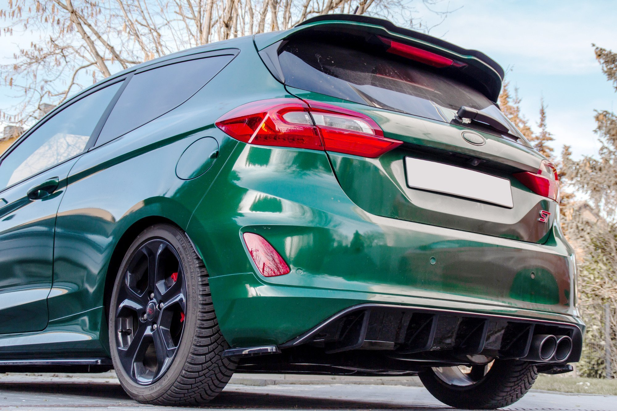 Rear Valance Ford Fiesta Mk8 St Gloss Our Offer Ford Fiesta St Mk8 2018 Maxton Design