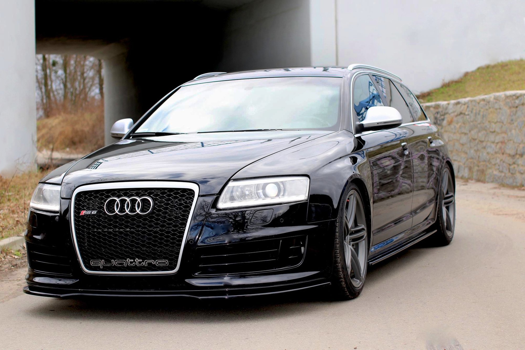 Side Skirts Diffusers Audi RS6 C6 Textured   Our Offer ...