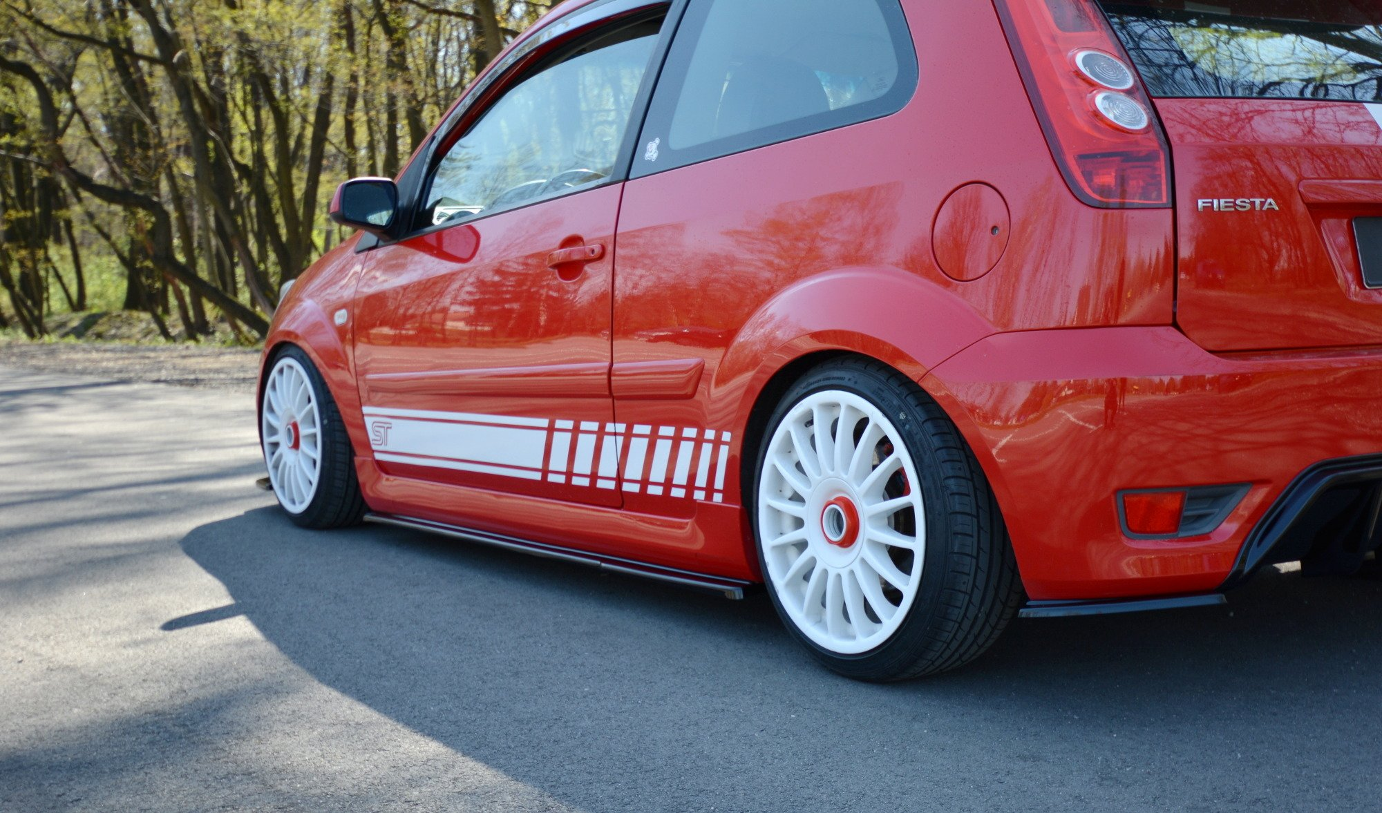 Side Skirts Diffusers Ford Fiesta St Mk6 Textured Our Offer Ford Fiesta St Mk6 2004 2008 Maxton Design