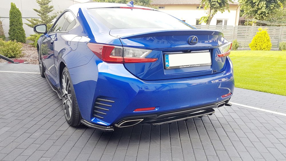 CENTRAL REAR SPLITTER (WITH VERTICAL BARS) Lexus Rc