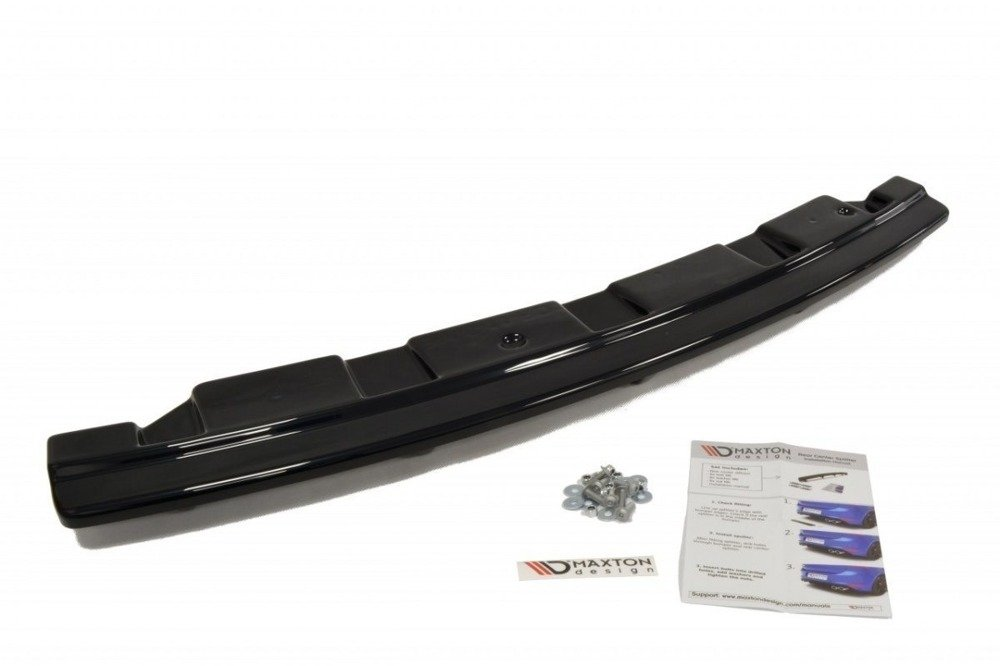 CENTRAL REAR SPLITTER for BMW 5 F11 M-PACK (fits two single exhaust ends)