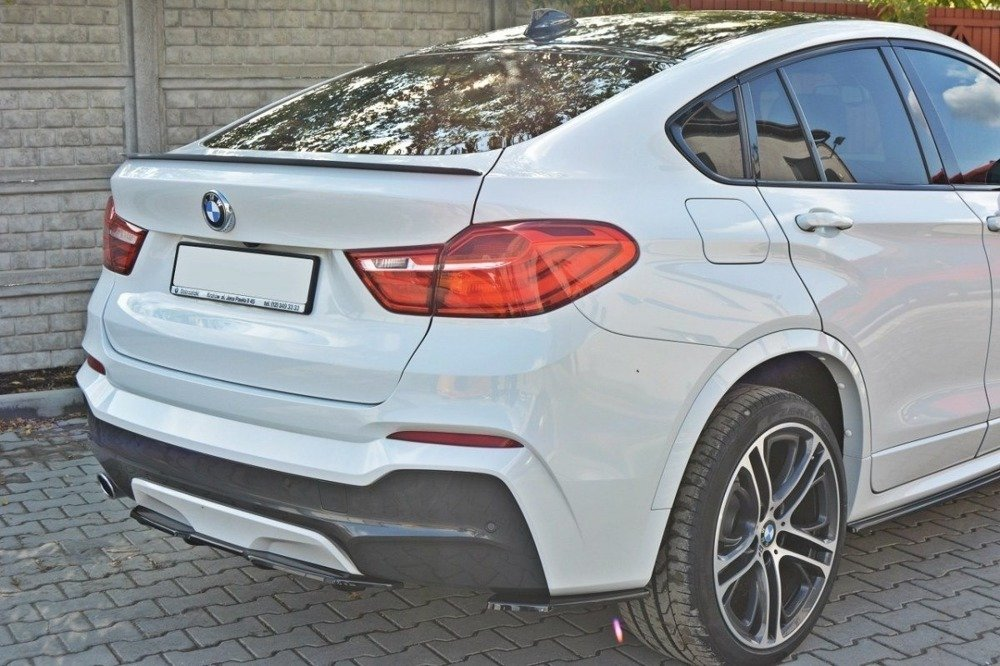 CENTRAL REAR SPLITTER for BMW X4 M-PACK (with a vertical bar)