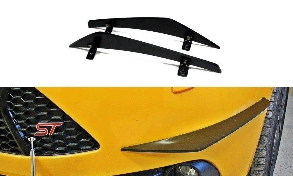 Canards (Front Bumper Wings) Ford Focus ST Mk3