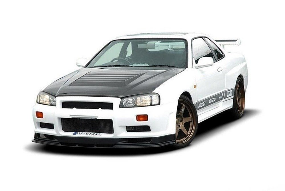 FRONT BUMPER NISSAN SKYLINE R34 GTR (WITHOUT DIFFUSER) GTR LOOK