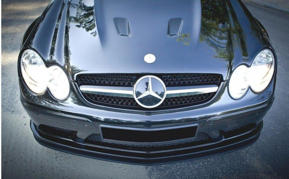 FRONT SPLITTER MERCEDES CLK W209 BLACK (SL BLACK SERIES LOOK)
