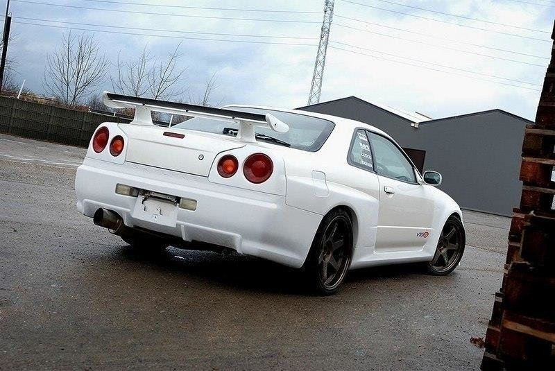 REAR BUMPER NISSAN SKYLINE R34 GTT GTR LOOK (FIT ONLY WITH 2292 WIDE ARCHES)