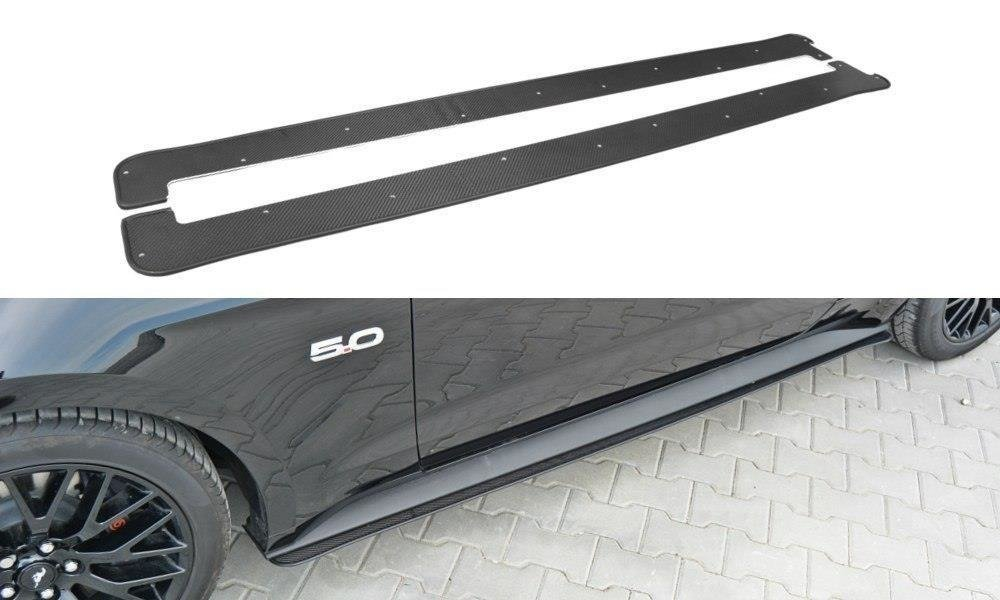 Racing Side Skirts Diffusers Ford Mustang GT Mk6