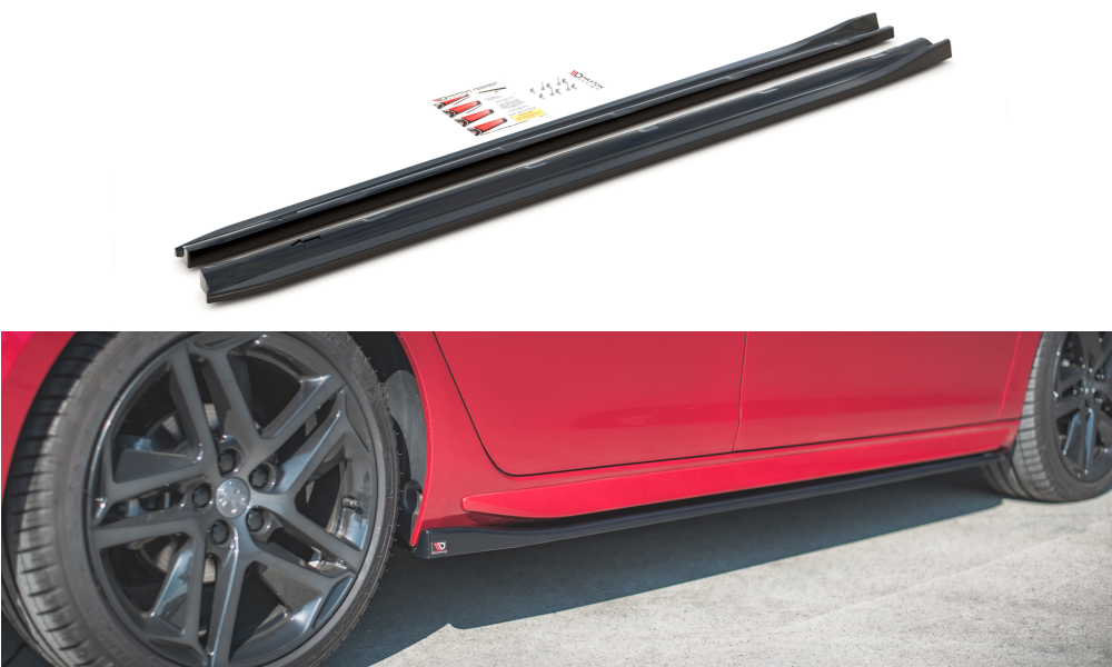 Side Skirts Diffusers Peugeot 308 GT Mk2 Facelift