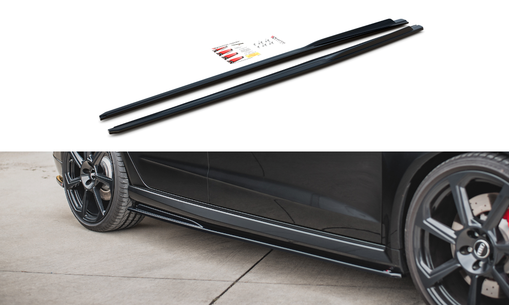 Side Skirts Diffusers V.2 Audi RS3 8V Sportback Facelift
