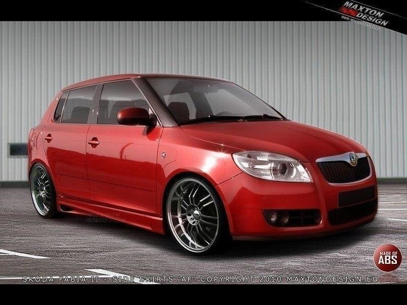 Side Skirts Skoda Fabia Mk2 < AF >