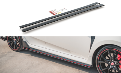Racing Durability Side Skirts Diffusers V.2 Honda Civic X Type-R